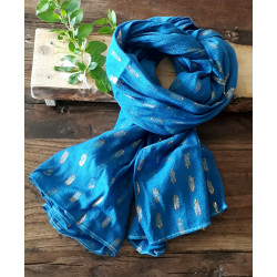 Écharpe bleu de Pastel nuit étoilée