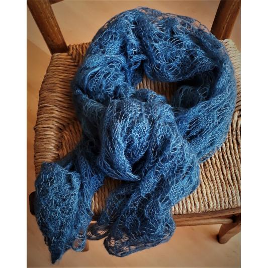 Etole légère Mohair bleu de Pastel